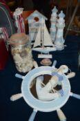 Nautical Bathroom Decorations and Shells