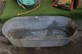 Vintage Galvanised Tin Bath