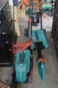 Bosch Rotac Electric Lawnmower plus Bosch Hedge Tr