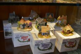 Eight Lilliput Lane Cottages with Boxes