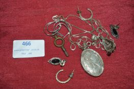 Silver Jewellery Including Locket, Chain, Pairs an