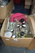 Assorted Bottles, Plates, Storage Jars, etc.