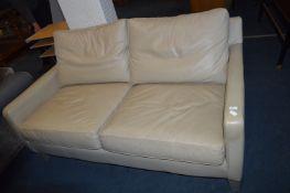 Leather Deep Two Seat Sofa