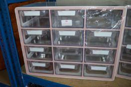 *Sysmax Multi Box 12 Drawer Unit (pink & white)