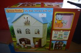 *Sylvanian Families Sky Blue Terrace Gift Set