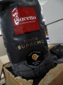 *6 x 1kg Piacello espresso supremo coffee beans