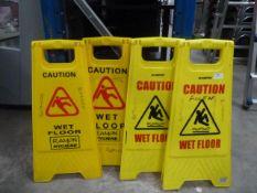 *4 x caution wet floor signs