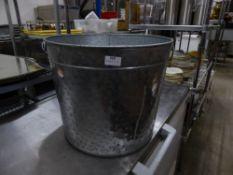 *large metal 'coal storage style' bucket