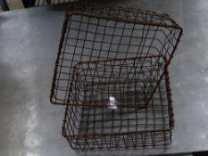*2 x wire baskets