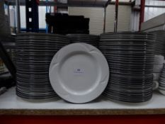 *90+ x white plates with blue rim. 200 diameter