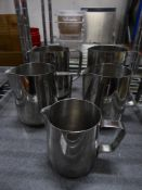 *5 x S/S milk steaming jugs