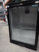 *single door undercounter bottle cooler. 600w x 500d x 850h
