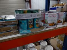 *large selection of tinned goods - 30 x 185g tuna, 16 x 415g Heinz baked beans, 12 x 340g sweetcorn,
