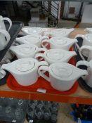 *13 x white teapots