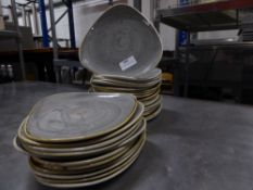 *30 x grey speckled snack/side plates