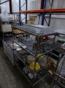 *wire shelving - 4 shelves - 1190w x 600d x 1710h