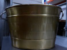 *gold coloured metal bucket - ideal for display or champagne service