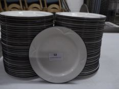 *60+ x white side plates with blue rim. 160 diameter