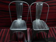 *8 x modern/industrial style metal chairs