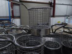 *12 x small 'fryer basket' fries pots