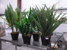 *4 x medium sized artificial plants
