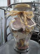 *selection of glass jars x 8