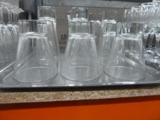 *10x assorted glasses with chunky bases