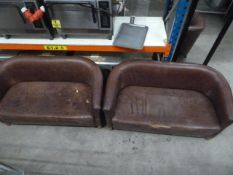 *2 x leather sofas - used condition