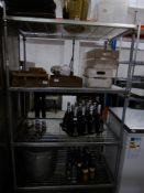 *4 shelf wire racking. 1050w x 600d x 1850h
