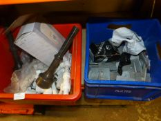 *Two Boxes of Assorted Plumbing Parts, Galvanised Plate Washers, etc.