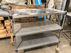 * large stainless steel trolley width 1050mm x depth 550mm x 1120 high Located at Grantham, NG32