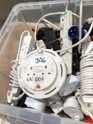 * Lot 306 box of extension leads and timer plugs Located at Grantham, NG32 2AG