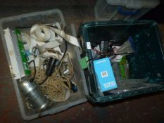 *Two Boxes Containing Concrete Fixing Bolts, Quantity of Webbing, Rope and LED Candle
