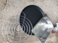 * Black non slip trays, 1/2 inserts, s/s trays and bread baskets