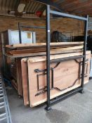 *Stillage Containing Ten 6ft x 2ft and Twelve 6ft x 3ft Banqueting Tables with Folding Legs