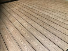 * Complete Light Grey WPC decking Kit 2.9m x 2.9m includes joists - clips - decking - screws & fixin