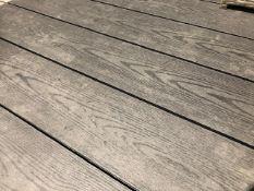 * 20 x Dark Grey Decking Boards 2.9m x 140mm x 25mm