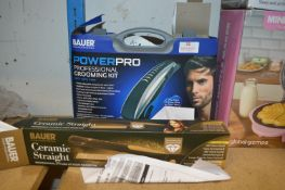 *Bauer Grooming Kit and Hair Straighteners