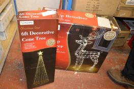 *Light Up Reindeer and a 6ft Tree