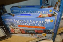*Two Santa's Express Delivery Train Sets