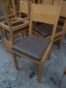 * 12 x brown chairs - wooden frame