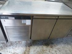 * Fosters Eco Pro G2 Ep1/2L S/S 2 door preptop fridge. 1420w x 700d x 860h