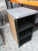 * 3 shelf unit on castors. 540w x 600d x 1100h
