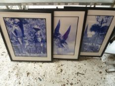 * 15 x assorted prints in frames. 560w x 680d