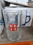 * 6 x WEST 1/2 pint glass tankads