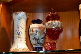 Decorative Glass and China, Vases, etc.