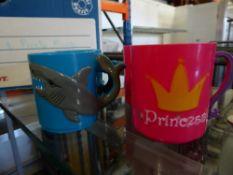 *large quantity pirate and princess mugs