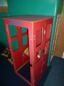 *Wooden children's play telephone box