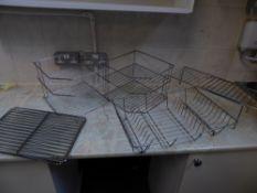 *S/S kitchen racks selection - 4 x baking/cooling racks, 2 x corner units, 1 x extending racks, 1 x