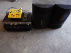 * sound system with Marantz CD mixer, Maghum amp and 2 x Tannoy speakers